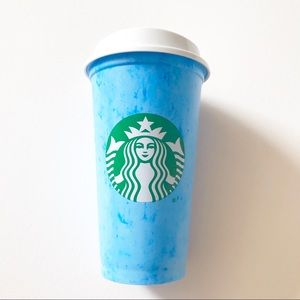 NWOT Starbucks Marbled Reusable Cup Cotton Candy